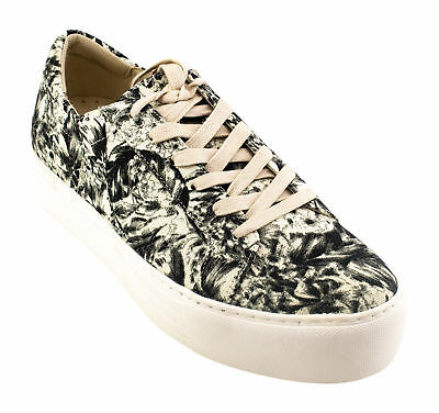 Kenneth Cole Womens Abbey Platform Sneaker, White Floral, Size 8.5 M