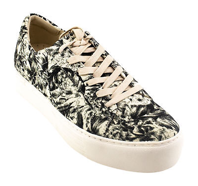 Kenneth Cole Womens Abbey Platform Sneaker, White Floral, Size 9.5 M