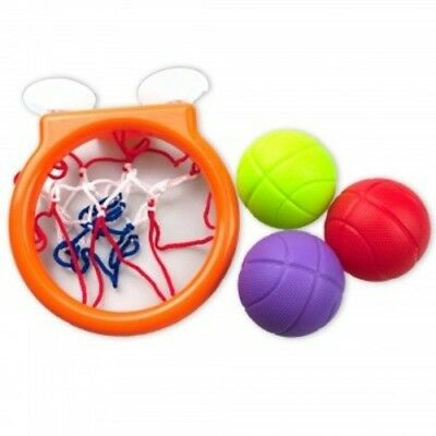 Bath Toy Basketball Hoop & Balls Set for Kids Tub Fun with Suction Cups