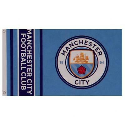 Manchester City FC Official Large Flag  (5ft x 3ft) Present Gift