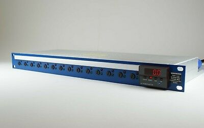 """Rack mount 19"""" power distribution unit 14-way IEC 20Amps with multifuntion meter"""
