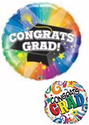 Congratulations Grad Graduate Balloons Party Ware Decoration Novelty Gift Helium