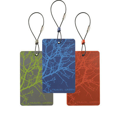 Clark Travel Green Branches Luggage Tag Green #ID90GRN Lewis N