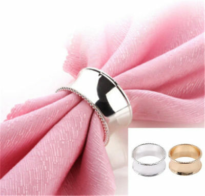 Hot Napkin Holder Dinner Towel Banquet Party Component Serviette Rings Supply LV
