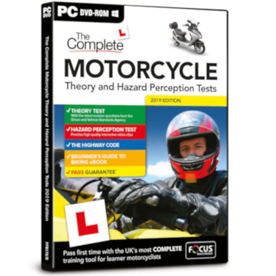 The Complete Motorcycle Theory and Hazard Perception Tests PC DVD 2019 Edition