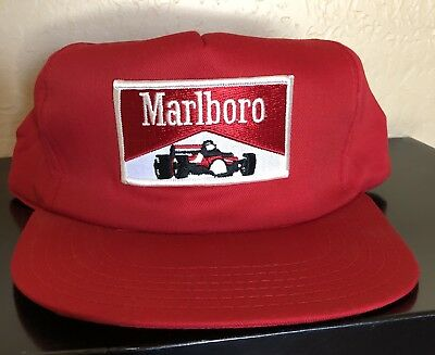 8ee3c6d8ba4 Vintage Marlboro Cigarette Red Race Carlogo Usa Made Snapback Hat Made In  Usa
