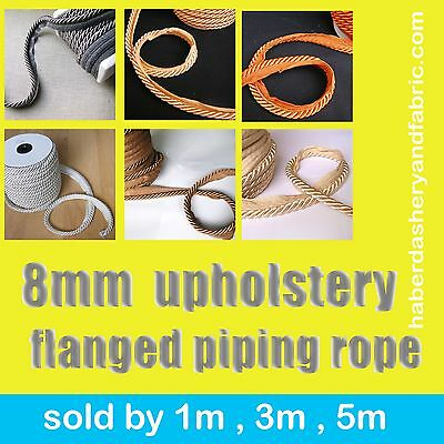 Upholstery Flanged Piping Cord Rope 8m Trimmings Trim Cushion Piping Cord Trims