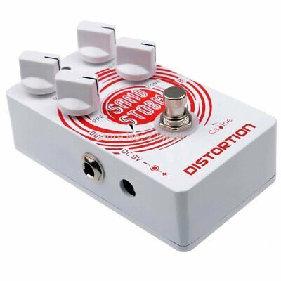 Caline CP-27 White British Distortion Guitar Effects Pedal With True Bypass