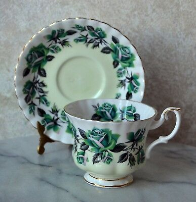 TEACUP and SAUCER SET - Royal Albert GRASMERE Lakeside Series, bone china