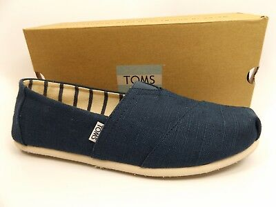 0b4139553bf Toms Mens Shoes Classic Majolica Blue Heritage Canvas Sz 10.5 M Pre Owned  D9881