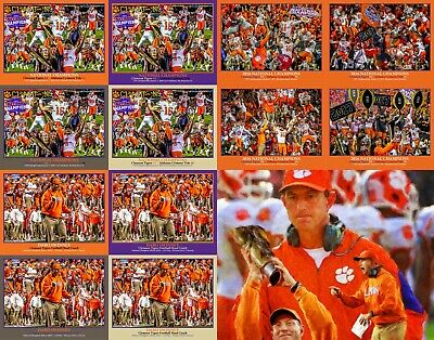 National Champions 2019 Clemson Tigers NCAA College Football Art  8x10 - 48x36