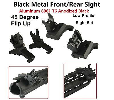 Metal Front Rear Flip Up 45 Degree Offset Rapid Transition Backup Iron Sight