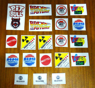 Back To The Future 20 Props Stickers + FREE SHIPPING WORLDWIDE!!!