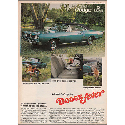 1968 Dodge Coronet: Your Kind of Beauty at Your Kind of Price Vintage Print Ad