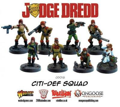 Warlord Judge Dredd Miniatures Game - Justice Department 2 Citi-Def Sq Box MINT