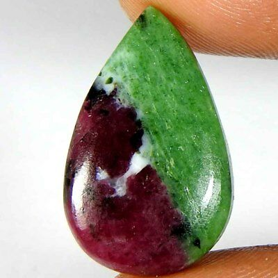 22.25Cts100% Natural Ruby Zoisite Pear Cabochon Gemstones