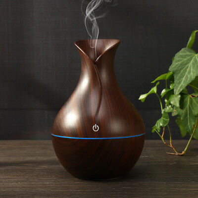 USA LED Ultrasonic Aroma Humidifier Essential Oil Diffuser Aromatherapy Purifier