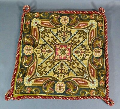 Antique Ottoman Islamic Turkish Embroidered Pillow Cover Pillowcase Cushion 14''