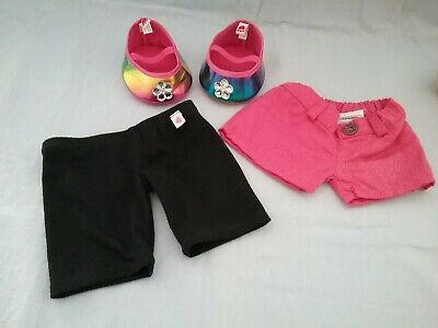 Build A Bear Rainbow Shoes And Shorts Set