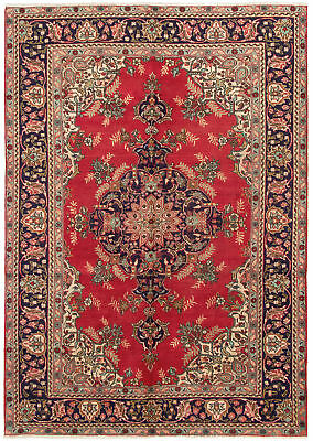"""Hand-knotted Persian Carpet 6'8"""" x 9'6"""" Persian Vintage Traditional Wool Rug"""