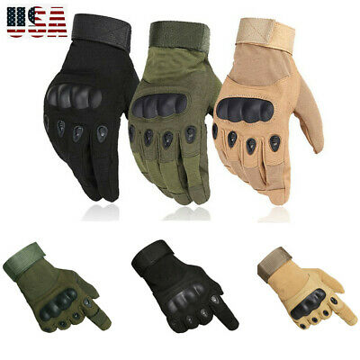 Army Military Combat Tactical Hunting Cycling Hard Knuckle Full Finger Gloves US