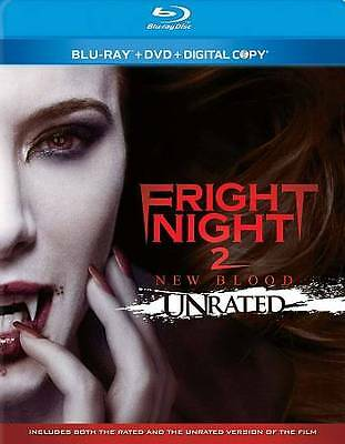 Fright Night 2: New Blood (Blu-ray/DVD, 2013, 2-Disc Set, GRAPHIC UNRATED)-SCARY