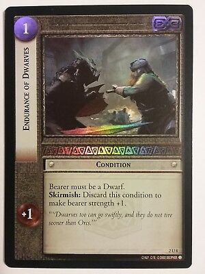 Lord Of The Rings Lotr Tcg Endurance Of Dwarves Mines Of Moria 2U4 Foil Card