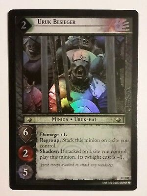 Lord Of The Rings Lotr Tcg Uruk Besieger The Two Towers 4C180 Foil Card