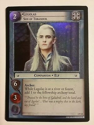 Lord Of The Rings Lotr Tcg Legolas Son Of Thranduil Realms Elf Lords 3P121 Foil