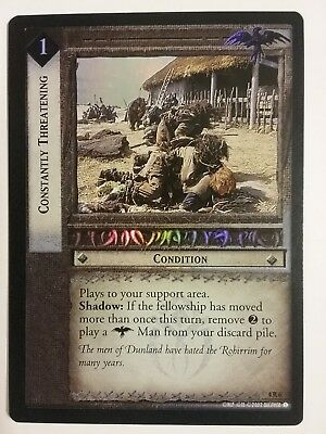 Lord Of The Rings Lotr Tcg Constantly Threatening The Two Towers 4R6 Foil Card