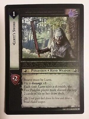 Lord Of The Rings Lotr Tcg Lurtz's Sword Mines Of Moria 2R43 Foil Card