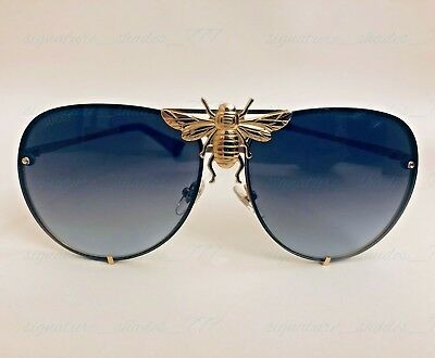 f673801101d Gucci Bee Aviator I ll Be Rich Forever Unisex Mens Womens Sunglasses