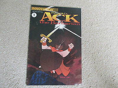 Macari's ACK THE BARBARIAN-No 1  from1991-Innovation