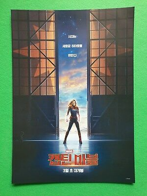 Captain Marvel Avengers Endgame 2019 Special Joint Mini Posters Movie Flyers
