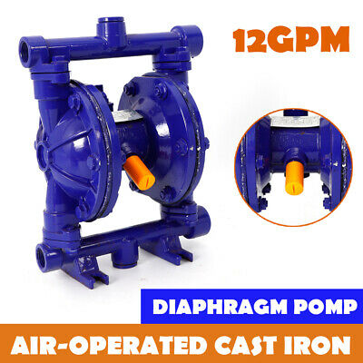 "Air-Operated Double Diaphragm Pump 12GPM 115PSI 1/2"" Inlet & Outlet QBK-15 Blue"
