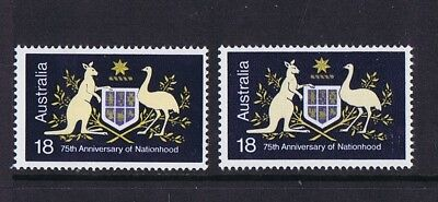 Australian Decimal Stamps 1976 18c Anniversary of Nationhood Die 1 & Die 2 MNH