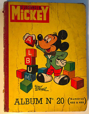 ALBUM LE JOURNAL DE MICKEY n°20 ¤ avec n°433 à 450 ¤ 1960 DISNEY