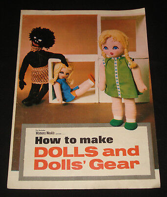 VINTAGE 1972  HOW TO MAKE DOLLS & DOLLS GEAR - Women's Weekly