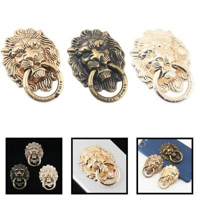 Metal Cell Phone Bronze Lion Holder Round 360° Finger Ring Stand Holder Useful