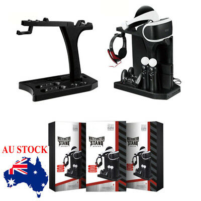 Vertical Stand, Fan, Controller Cooling Charger For PS4 Showcase PS4 Slim Pro AU