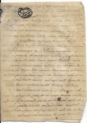 Small Vellum French Document, 1766