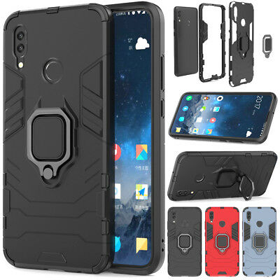 Hybrid Shockproof Hard Armor Stand Case Heavy Duty Cover For Huawei P Smart 2019