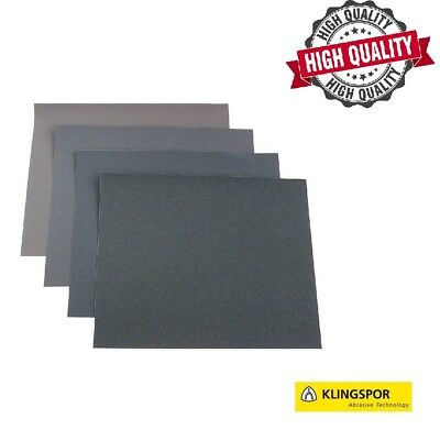 High Quality Wet And Dry Sandpaper 60 - 7000 Grit Klingspor Sand Paper  A4 Size