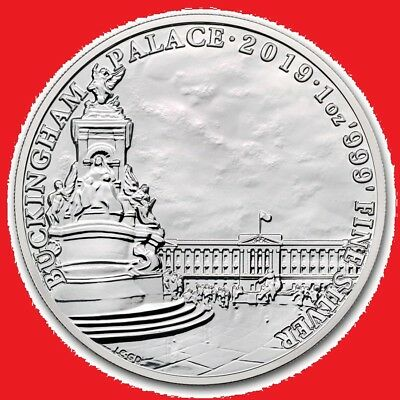2019 1oz Silver Buckingham Palace (Landmarks of Britain) in COIN CAPSULE