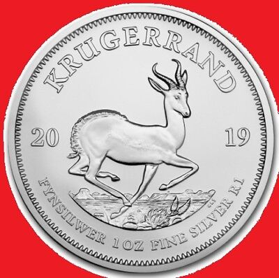 2019 1oz Silver Krugerrand in COIN CAPSULE