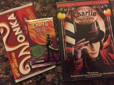 Charlie and the Chocolate Factory DVD, '05, 2-Disc Set, Widescreen Trading Cards