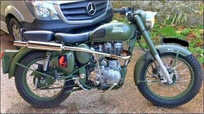 Royal Enfield Bullet 500 Classic Efi Military Spec Olive Green Trial Trail Mx