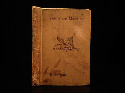 1895 1st ed HG Wells Time Machine SciFi Time Travel Space FAMOUS Fantasy Novel
