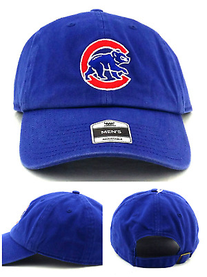 c24bcc4796a Chicago Cubs New Fan Favorite 47 Brand Clean Up Blue Slouch Era Dad Hat Cap