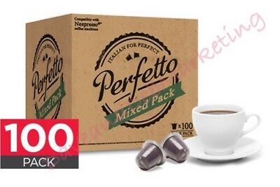 100 Pack Nespresso Compatible Coffee Pods (Mixed Pack) Italian Roast Flavours